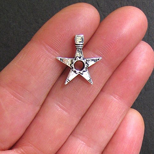 6 Spurs Charms Antique Silver Tone Star Shaped - SC498 Jewelry Making Supply Pendant Bracelet DIY Crafting by Wholesale Charms