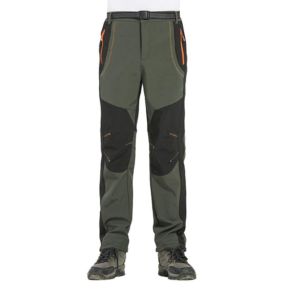 NEEDRA Men Couple Waterproof Windproof Outdoor Hiking Warm Winter Thick Pants Trousers