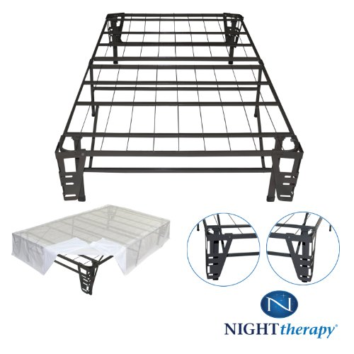 amazoncom night therapy platform metal bed framefoundation setsmartbase metal brackets for headboard footboard bed skirt king no box spring