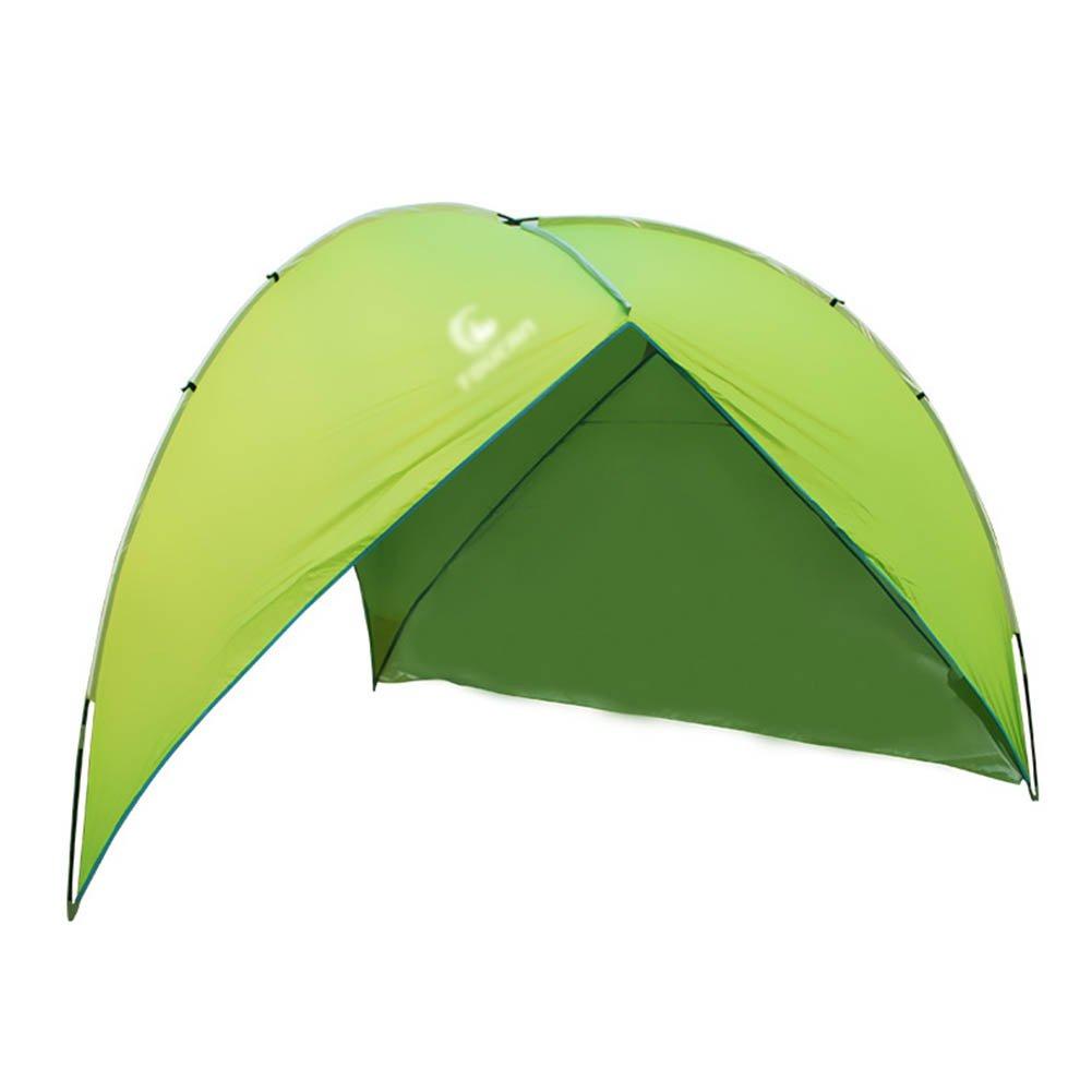 CLDBHBRK Campingplane Sonnenblende Draussen Mehrspielermodus Strandmarkise Klappzelt Beiläufig Grill Regenfest, Sonnenschutz Pergola, Überdachung,Grün