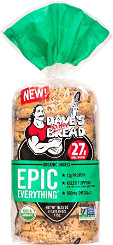 Epic Everything Protein NON GMO Bagels 16.75 oz bag