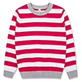 #9: Benito & Benita Pullover Sweater Crew Neck Cotton Sweater Casual Style With Stripes For Boys and Girls 3-12Y