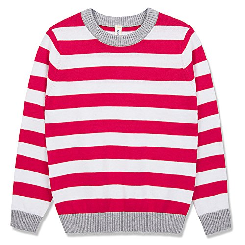 Benito & Benita Pullover Sweater Crew Neck Cotton Sweater Casual Style With Stripes For Boys and Girls 3-12Y