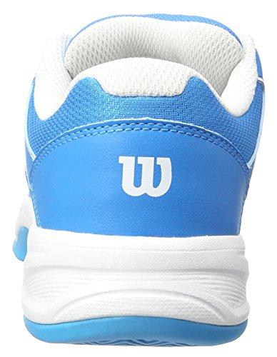 Wilson ENVY JUNIOR, Zapatillas de tenis Unisex infantil Azul (Methyl Blue / White / Hawaiian Ocean)
