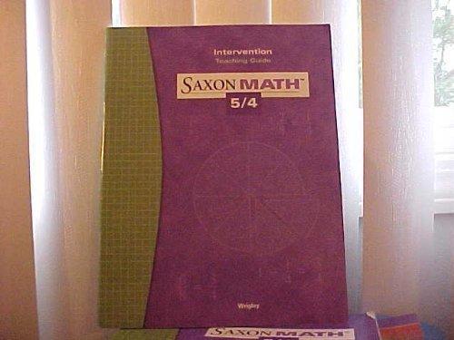 Saxon Math 5/4 3e Intervention Teaching Guide ebook