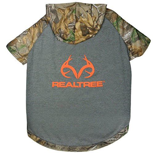 Pets First Realtree Camouflage Hunting Dog Hoodie Tee Shirt, Large by Pets First