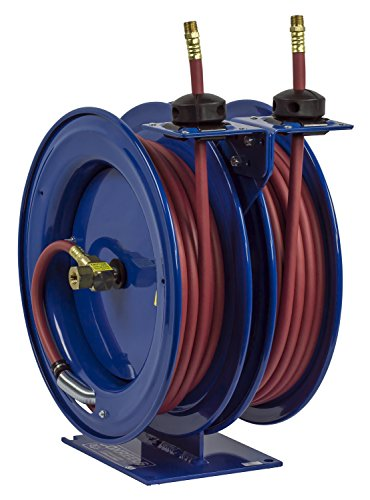 Coxreels C-LP-325-325 Dual Air Hose Reel, 3/8' Hose ID, 25' Length