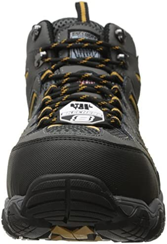 SKECHERS Work Men's Blais Bixford Dark Gray Action Nubuck/Mesh Boot 12 D - Medium,Dark Gray Action Nubuck/Mesh,12 M US
