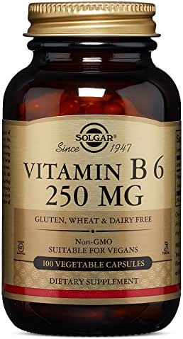 Solgar – Vitamin B6, 250 mg, 100 Vegetable Capsules