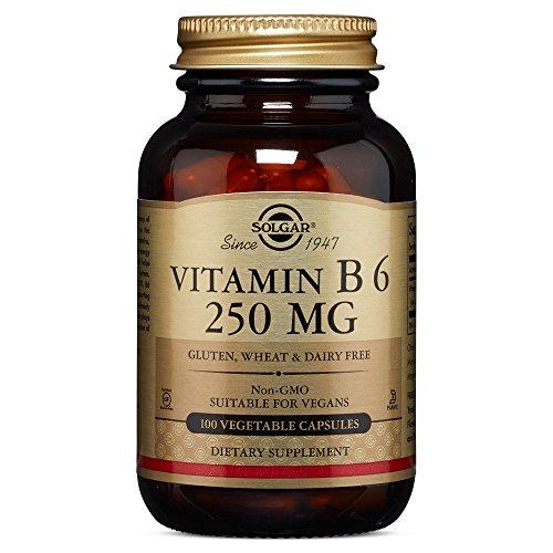 Solgar – Vitamin B6, 250 mg, 100 Vegetable Capsules