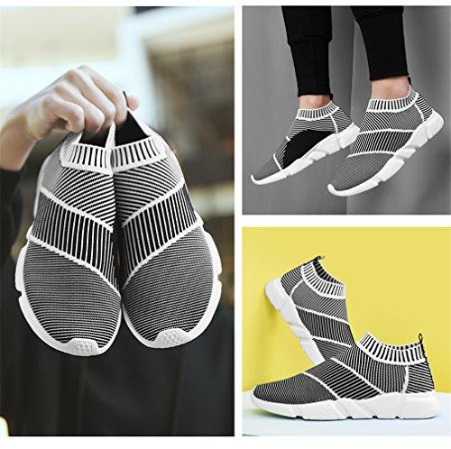 Scarpe calze da Light traspirante Calzature uomo Scarpe ginnastica casual uomo in Grey Calzino mesh per uomo da Super da Slip Fluores Sock Calzature S1806 On Mocassini WIqt7nBUU