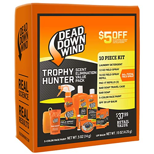 Dead Down Wind Trophy Hunter Kit - Scent Elimination for Hunting Gear, 10 Piece Value Pack ()