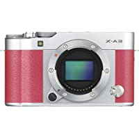 Fujifilm X-A3 Mirrorless Digital Camera Body Only (Pink) (International Model No Warranty)