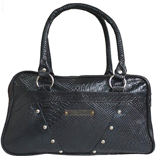 Damen Lederhandtasche Ledertasche Handtasche Tasche Tragetasche echtleder blau