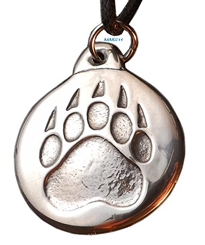 Bear Paw - Pewter Pendant - Power, Spirit, Totem Animal, Native American Necklace (Charms Animal Pewter)