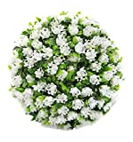 Porpora Decorative Artificial Flower Ball for Home Decor, Weddings and other Special Events, 19'' L, White