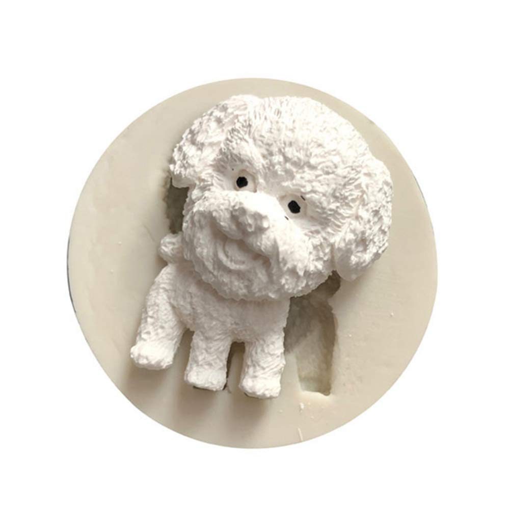 super1798 Dog Silicone Fondant Polymer Clay Soap Mold Cake Decor DIY Craft Baking Tool - 1#