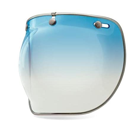 0acd9e2e Amazon.com: Bell 3-Snap Bubble Deluxe Shield Visor Street Motorcycle Helmet  Accessories - Ice Blue/One Size: Automotive