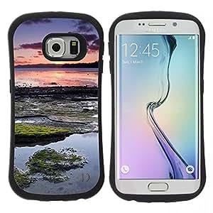 "Hypernova Slim Fit Dual Barniz Protector Caso Case Funda Para Samsung Galaxy S6 EDGE [Naturaleza Hermosa Forrest Verde 179""]"