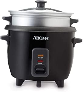2-6 cups Cooked Rice cooker, Steamer, Silver, Multicooker, Aluminum, 9.41 x 8.07 x 9.45 inches