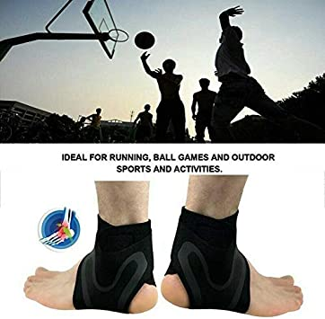Dreamhui Walk-Hero The Adjustable Elastic Ankle Support Brace Wrap Strap for Sports Protect Injury Recovery
