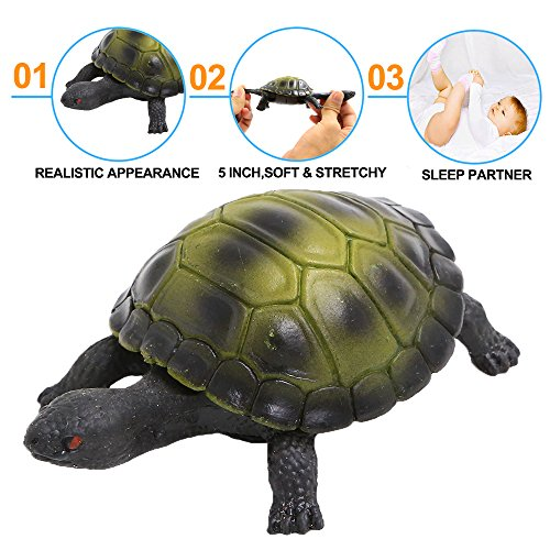 Turtle Toys,Sea Ocean Animal 5 Inch Rubber Tortoise Turtle Sets(8 Pack),Great Safety Material TPR Super Stretchy,Can Hide In Shell ValeforToy Bathtub Bath Pool Toy Party Favors Boys Kids by ValeforToy (Image #3)