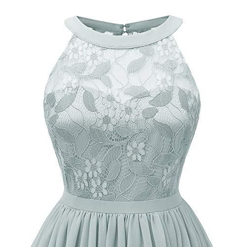 Vert Robes Robe Chic Party Mini Dentelle Femme Imprim sans Bringbring Princess Retro Fleur Manches POqOdcwF