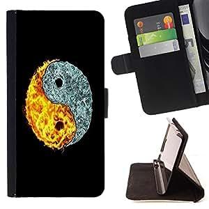 Cat Family ???¡¯?¡??nico Dise???¡¯???¡Ào caja de la PU billetera de cuero - FOR Samsung Galaxy Core Prime - Eight trigrams of Yin and Yang -
