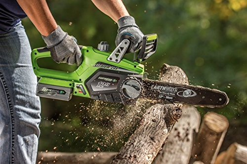 Earthwise Cordless 24V Li-Ion Chainsaw, 11'' x 11'' x 25'', Green / Grey / Black, 2 year Limited Manufacturer Warranty! by Earthwise