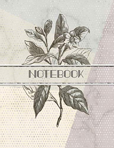 Notebook: Meetings Notebook for Social Worker with Custom Interior. Vintage Illustration, Faux Embossed Beads & Silver. 8.5 x 11 inch - 121 Pages