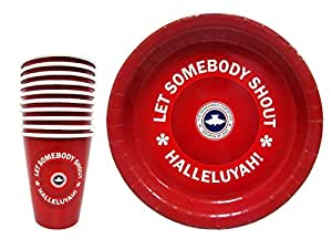RCCG Party Paper Plates and Cups | matches Party favors gifts, decorations, bags and supplies | Redeemed Christian Church of God | | 20 Piece Party Set (10 Plates, 10 Cups)