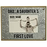 Pavilion - Dad... A Daughter's First Love - Wood and Metal 4x6 Picture Frame