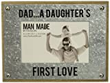 Pavilion Gift Company-Dad. A Daughter's First Love-Wood and Metal 4x6 Picture Frame