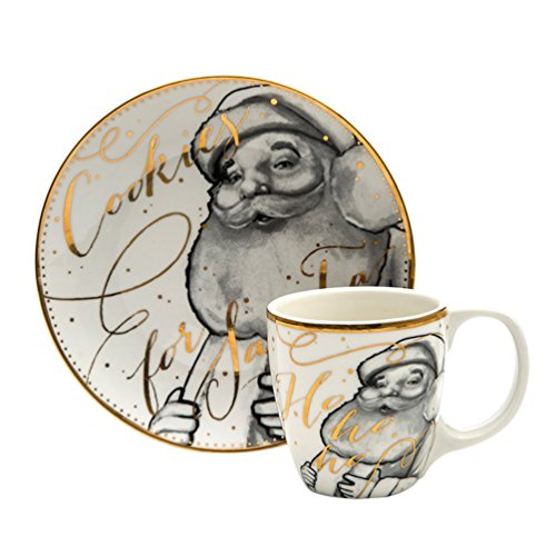 Christmas Cookies and Cocoa For Santa Gift Snack Plate and Cup Set (Santa)  sc 1 th 225 & ➤ Top 13 Best Snack Plate \u0026 Cup Sets | Snack Plate \u0026 Cup Sets Reviews