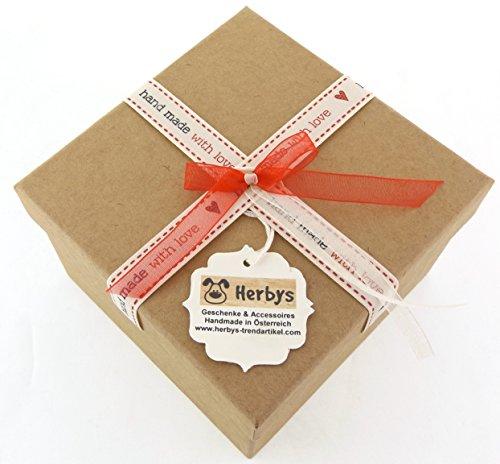 """Herbys Babyschuhe """"Blümchen"""", aus feinster Merinowolle, inkl. Geschenksbox, Handmade in Österreich"""