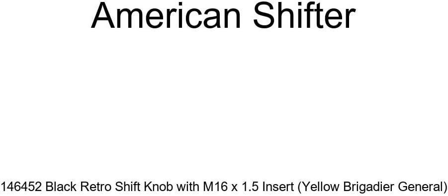 Yellow Brigadier General American Shifter 146452 Black Retro Shift Knob with M16 x 1.5 Insert