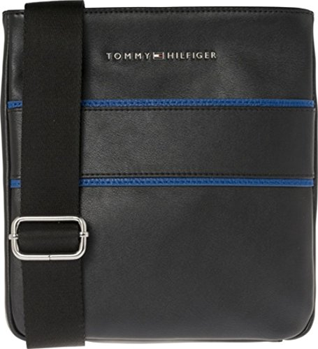 TOMMY HILFIGER Pop Stripe Mini Crossover Black / Sodalite Blue