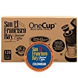 San Francisco Bay OneCup, Colombian Supremo, (120 Count) Single Serve Coffee, Compatible with Keurig K-cup Brewers