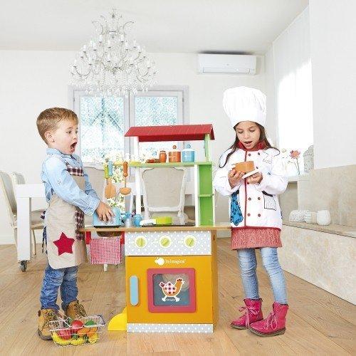 Serra Baby For Kids Wooden Kitchen - Fresh Farm Dual Kıtchen by Serra Baby