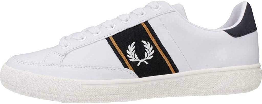 Fred Perry B35 Basket Homme Blanc 100white
