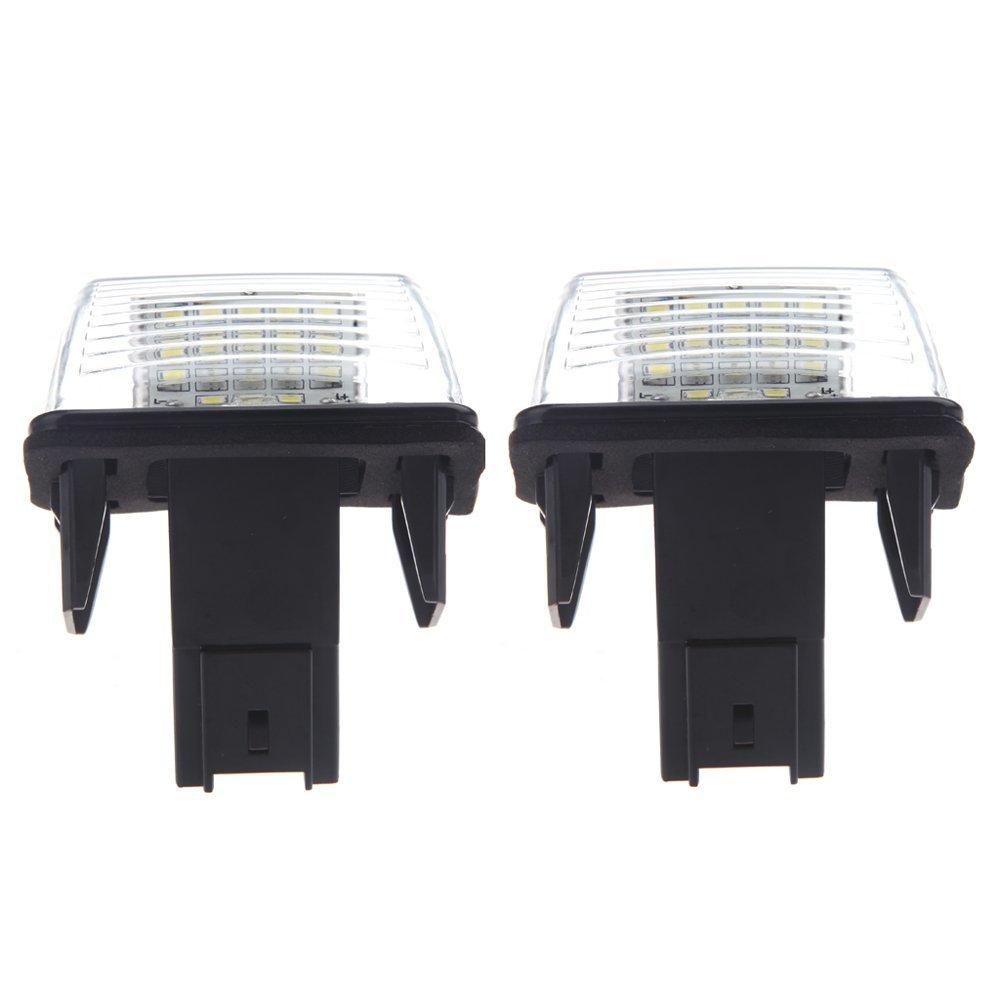 KKmoon Coche Lámpara Placa Matrícula 18 SMD LED 2Pcs: Amazon.es ...