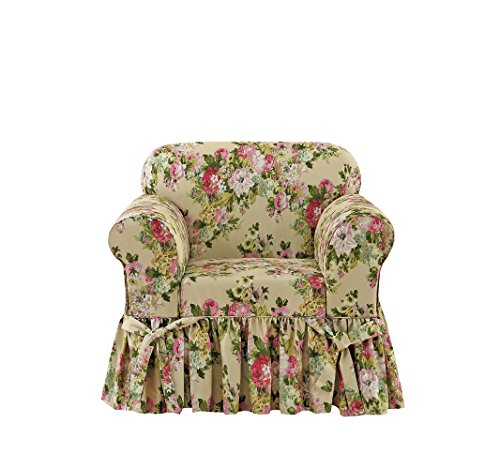 Sure Fit Juliet by Waverly One Piece Chair Slipcover - Bliss (Floral Chair Slipcover)