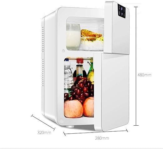 Dljyy Mini pequeño Nevera Microondas 20L Doble Refrigeración hogar ...