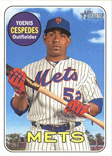 2018 Topps Heritage #221 Yoenis Cespedes New York Mets Baseball Card