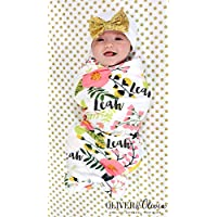 Personalized Baby Blanket and Hat Set Personalized Swaddle Blanket Baby Girl Receiving Blanket Monogram Baby Blanket Baby Girl Blanket