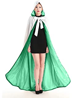 ShineGown White Hooded Cloak Coat for Women Wedding Evening Prom Velvet Medieval Cape with Hood for