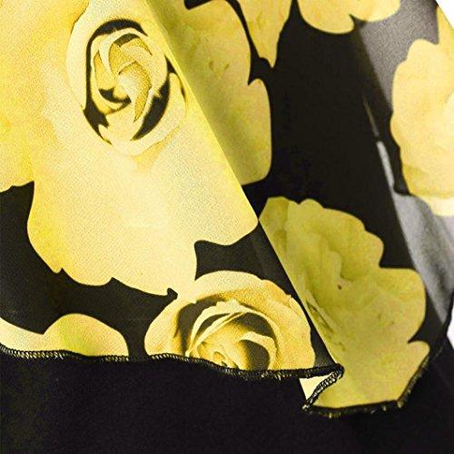 Mujer Mujer Corta Vestidos Tallas De Fiesta FAMILIZO Verano Vestidos Amarillo Vestidos Manga Mujer Elegantes Florales Largos Largo Fiesta De Mujer Largos Vestidos Grandes Mujer Vestidos Za4R4q1