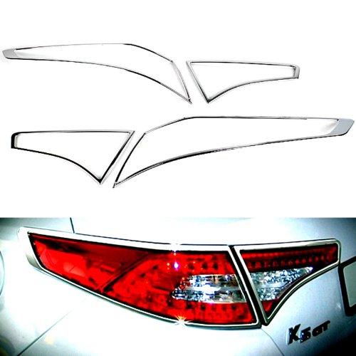 Chrome Rear/Tail Lights Lamp Molding Trim Covers 4pcs Set for 2010 2011 2012 2013 Kia Optima