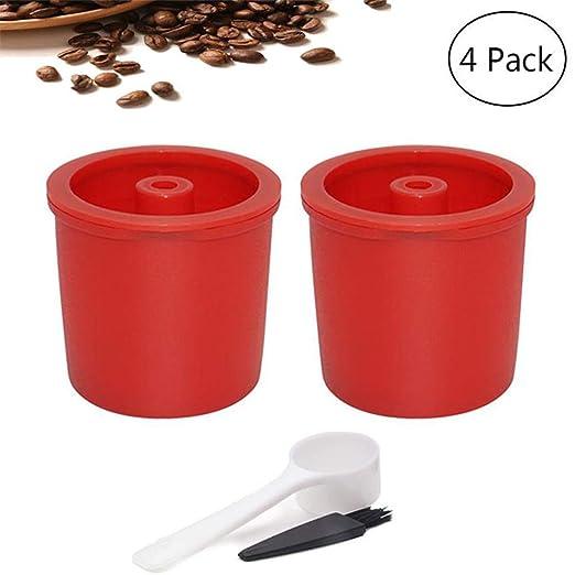 PAWACA Cápsula café Recargable para ILLY, Filtro de café Reutilizable con 1 Cuchara de plástico, 1 Cepillo de Limpieza