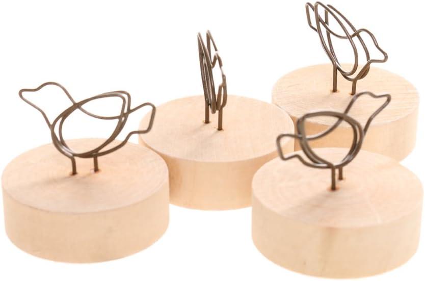 Herzentwurf LOVIVER 10x Holz Memohalter Notizhalter Papierhalter Fotohalter Kartenhalter Notiz